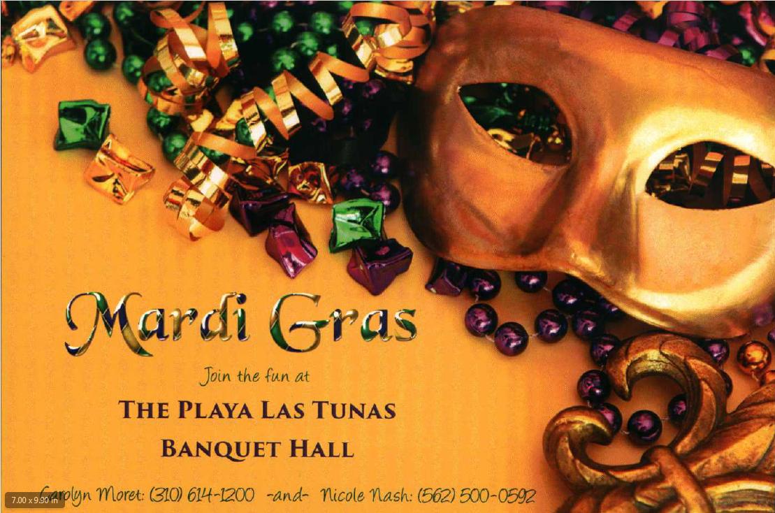 Mardi Gras Flyer Front - WHOA