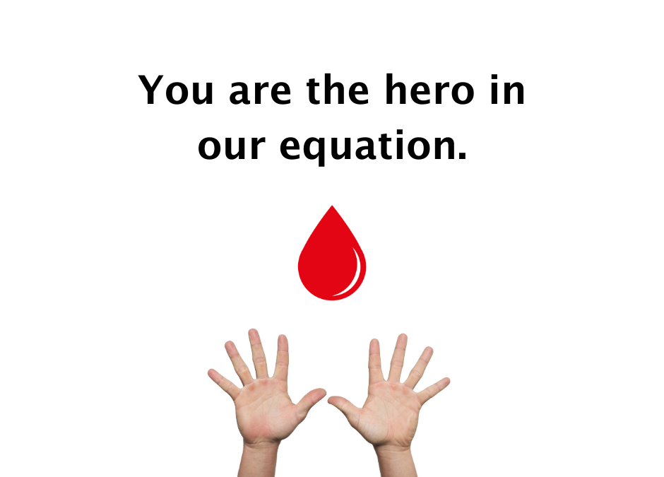 You are the hero in our equation