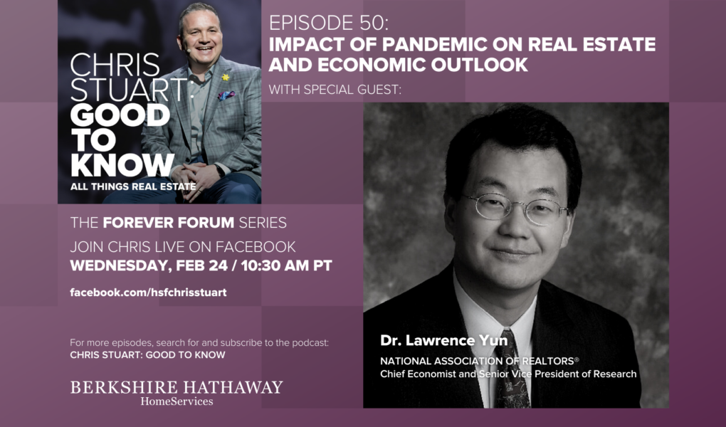 Is This A Bubble? Interview w/ Dr. Lawrence Yun, Chief Economist, National Association of Realtors