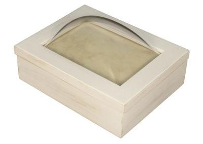 Rustic White Keepsake Box
