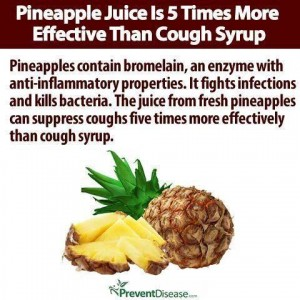 pineapple juice 5 x more effective cough syrup