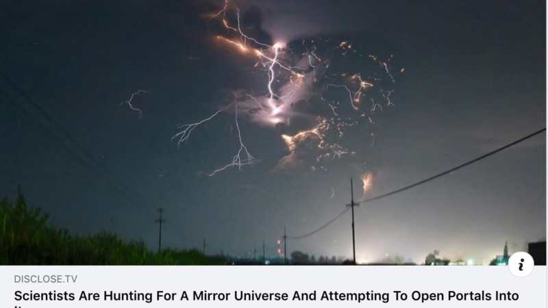 Scientists hunting for mirror universe