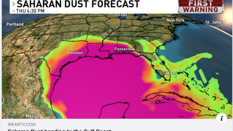Saharan Dust heading to the Gulf Coast.  6-18-20
