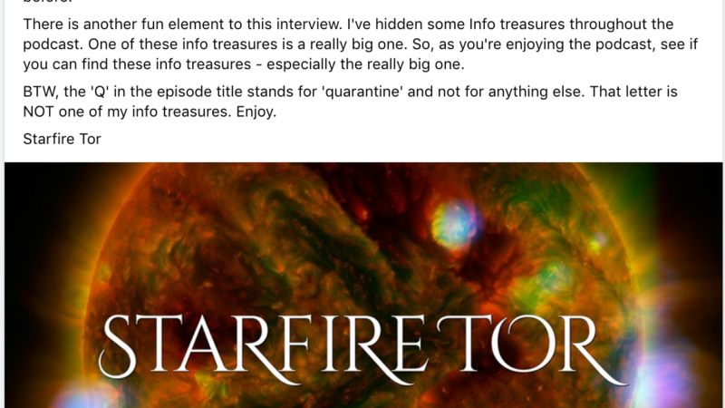 Laura London Interviews Starfire Tor