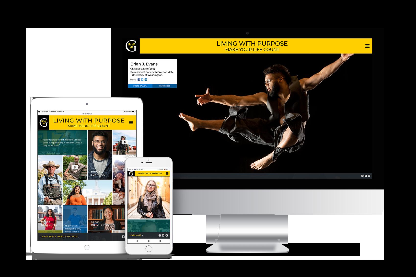 Gustavus Adolphus College Website