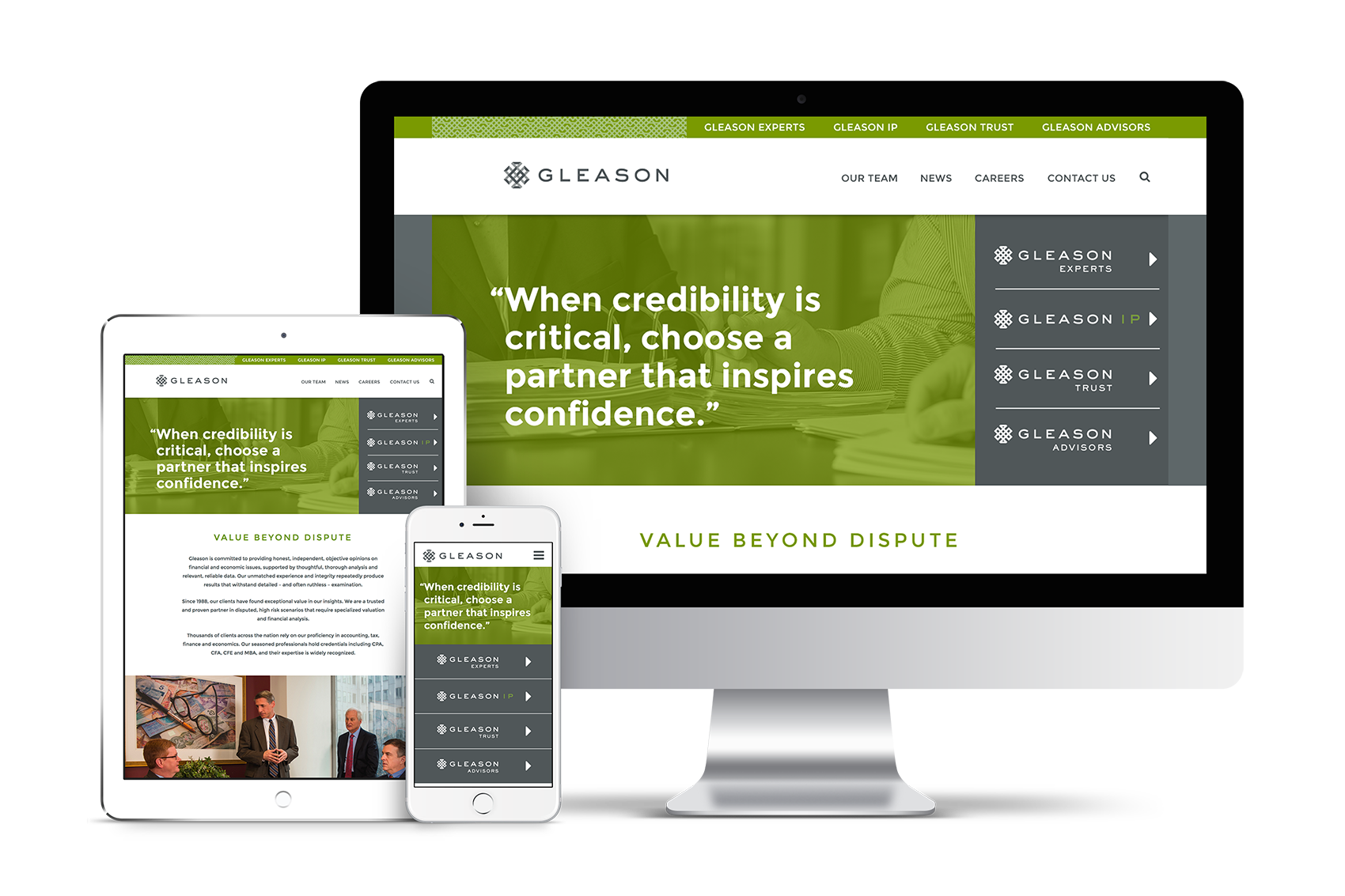 Gleason Website and Branding