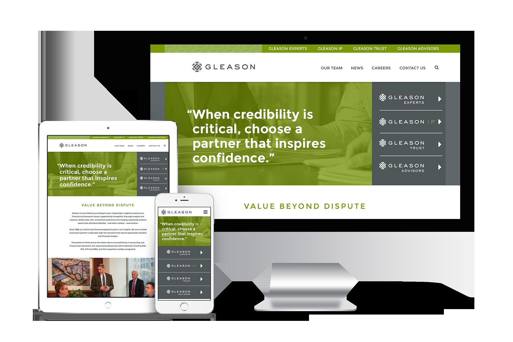 Gleason Website and Branding