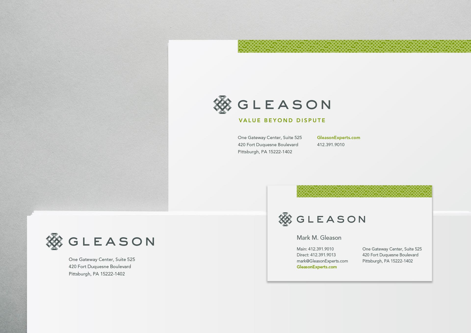 Gleason Brand stationery