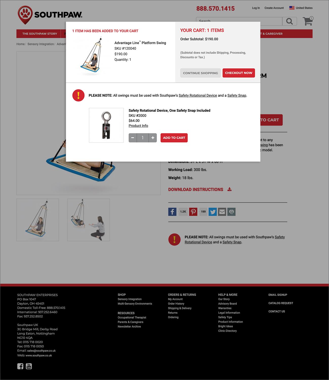 Southpaw website