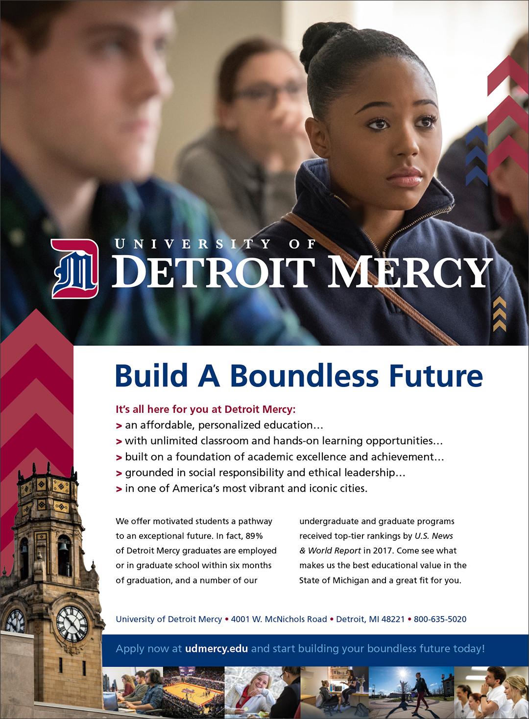 Detroit Mercy Print Ad