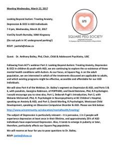 A Square Peg Society Invitation March 22, 2017