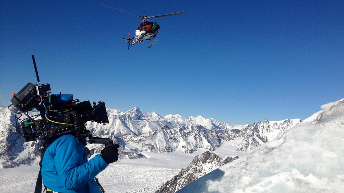 Alaska Mountain and Glacier Filming