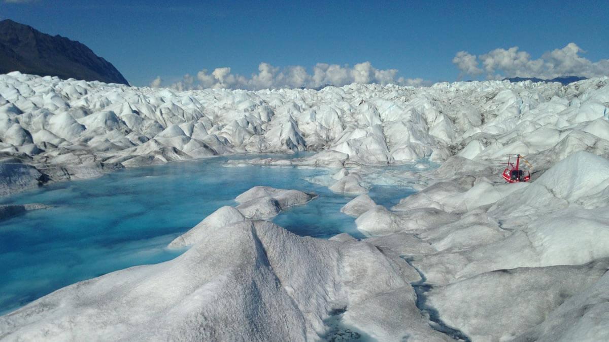 Alaska Heli Hiking Blue Pool Exploration