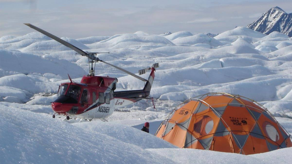 Helicopter Drop Off for Glacier Camping
