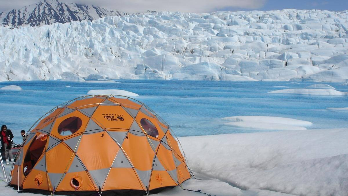 Luxury Glamping on an Alaska Glacier