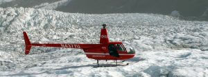 Helicopter on a Glacier