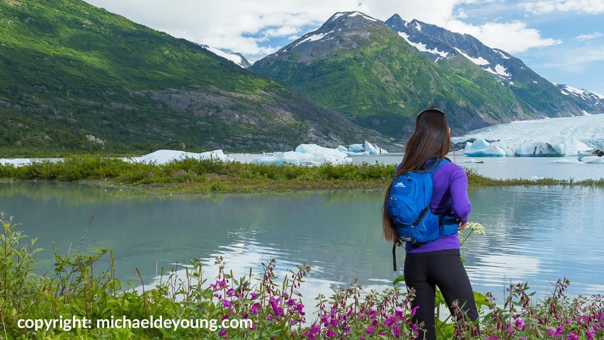 Scenic Views of Spencer Glacier & Icebergs