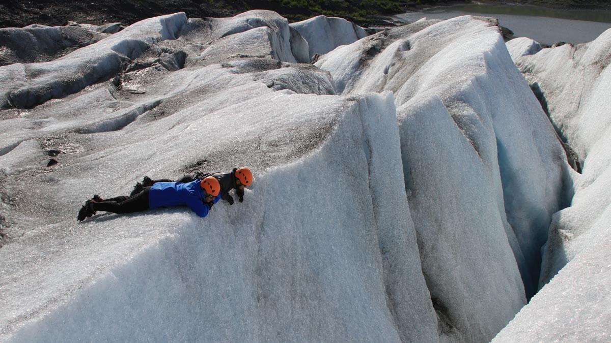 Crevasse Viewing on Spencer Glacier
