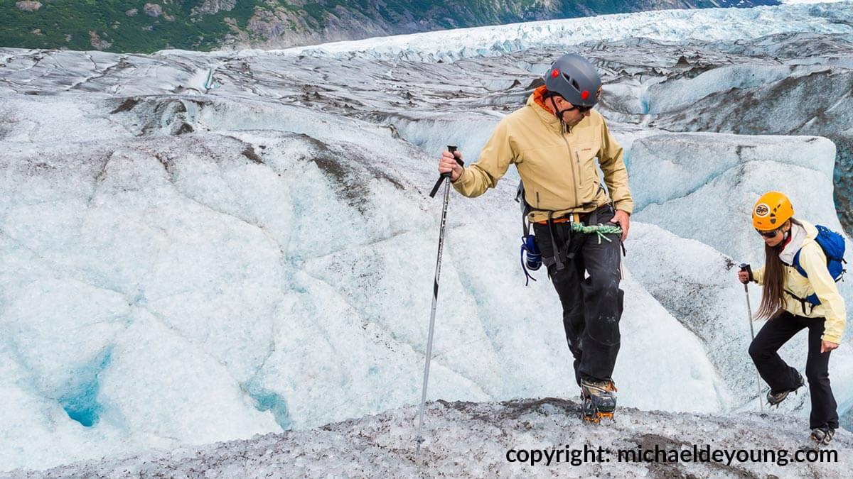 Guided Glacier Hiking Tour on Spencer Glacier