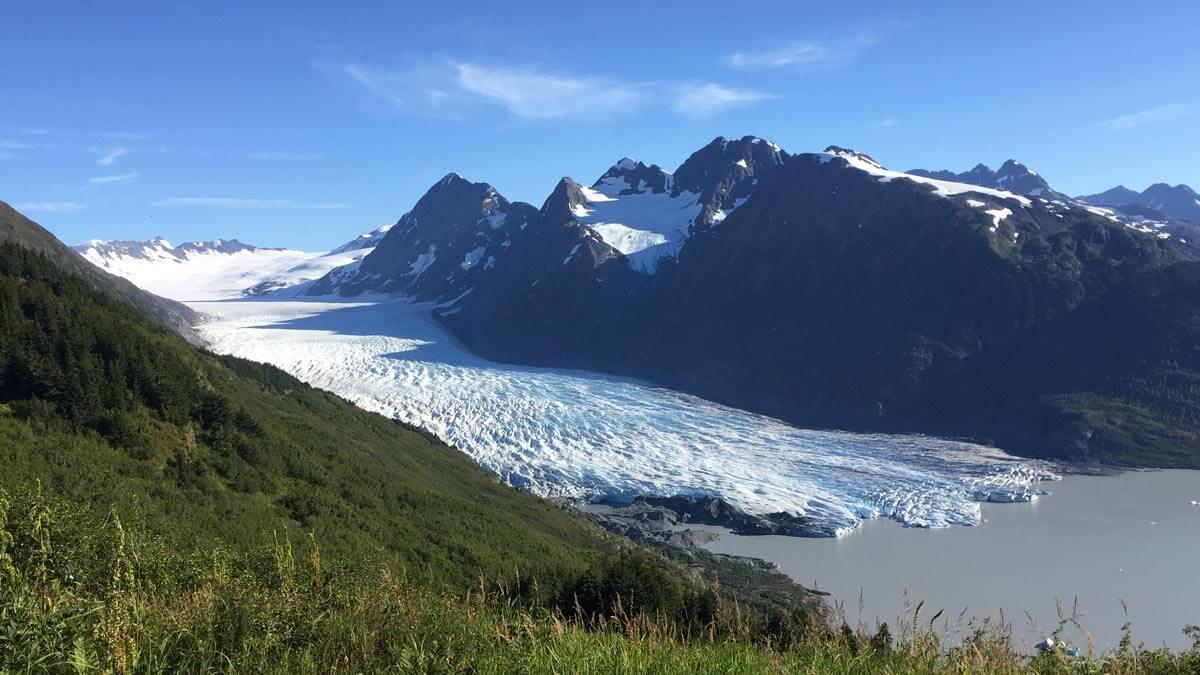Ariel View of Spencer Glacier
