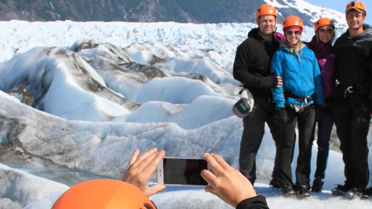 Group Photo on Spencer Glacier