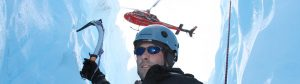 Ice Climbing by Helicopter