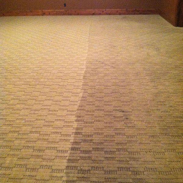 before and after carpet cleaningf