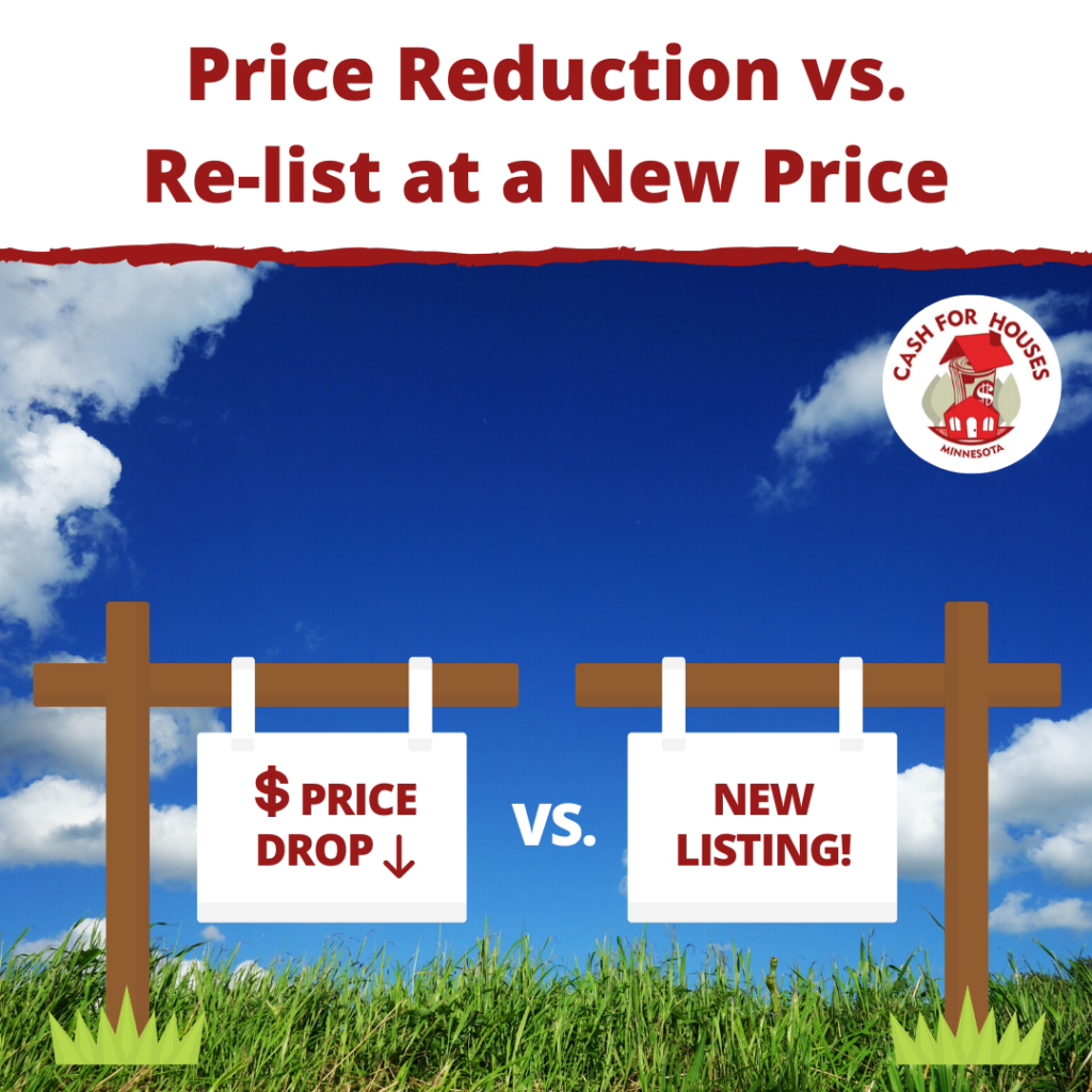 Price reduction vs Re-Listing