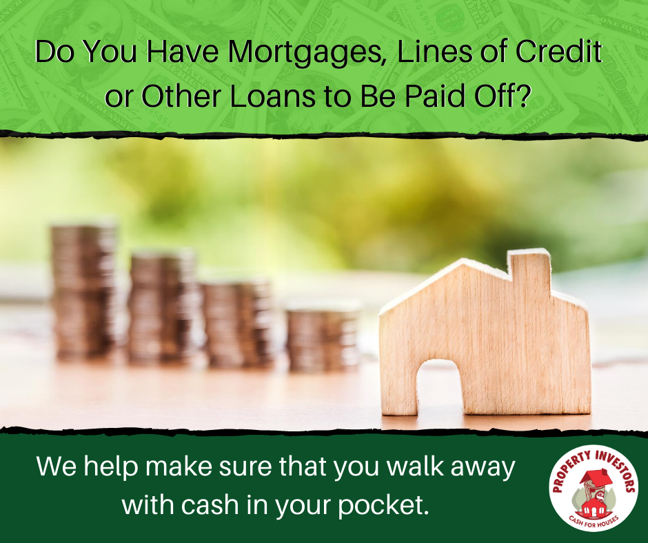 Mortgages, lines of credit or other loans to be paid off