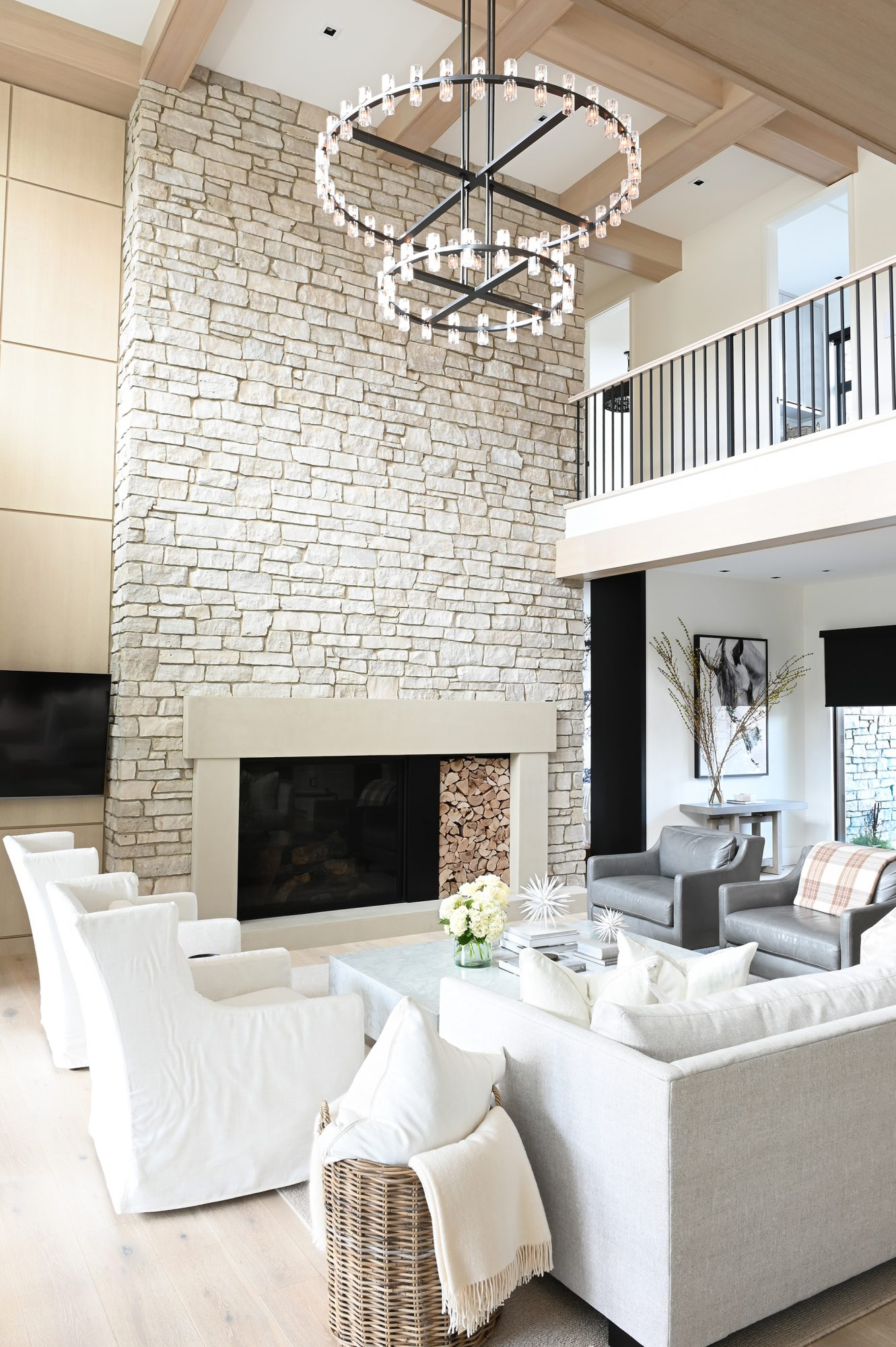 Ferme Moderne grand living room built by Midland Premium Properties in Vancouver, BC