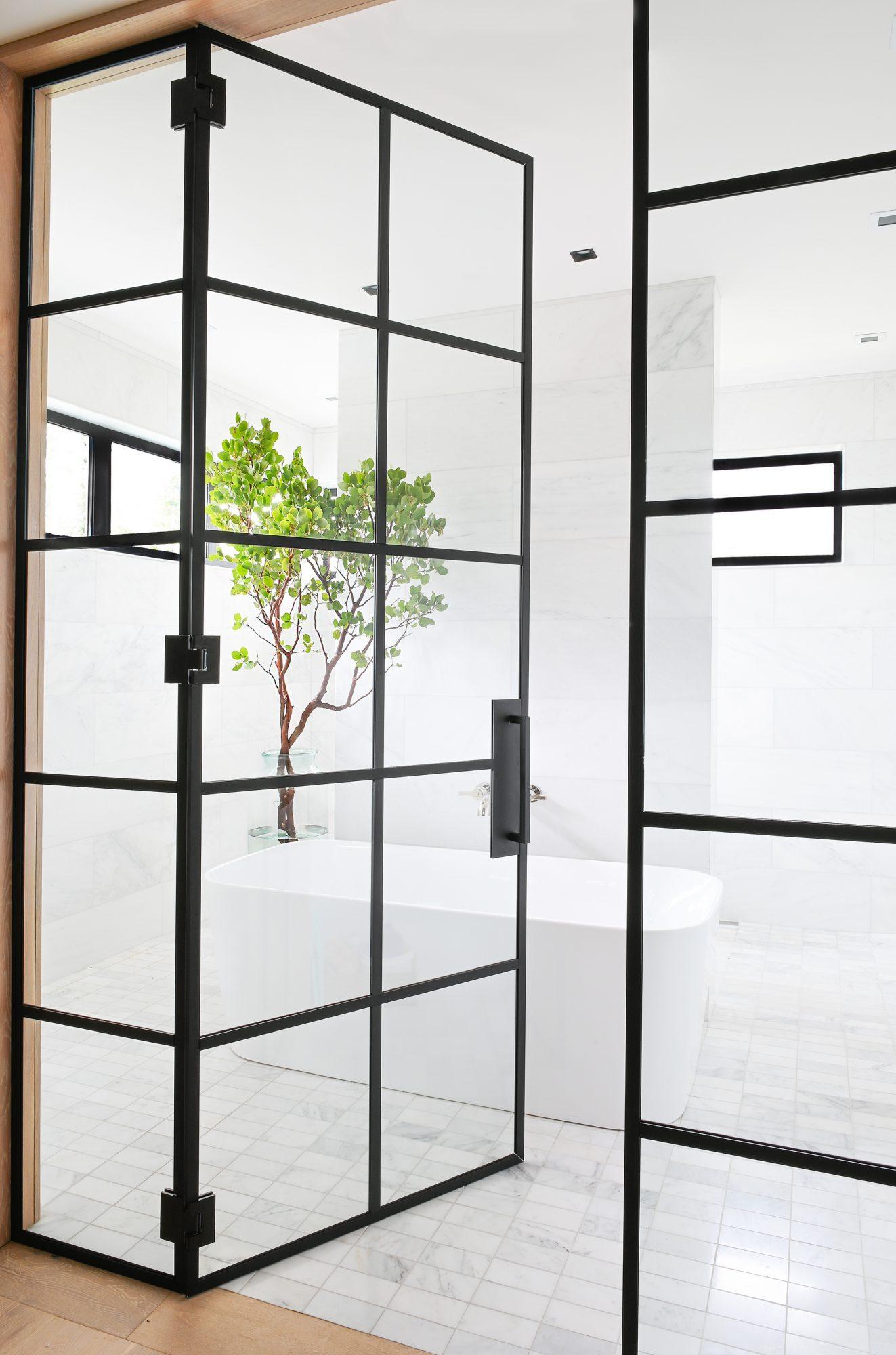 Ferme Moderne bathroom entrance built by Midland Premium Properties in Vancouver, BC