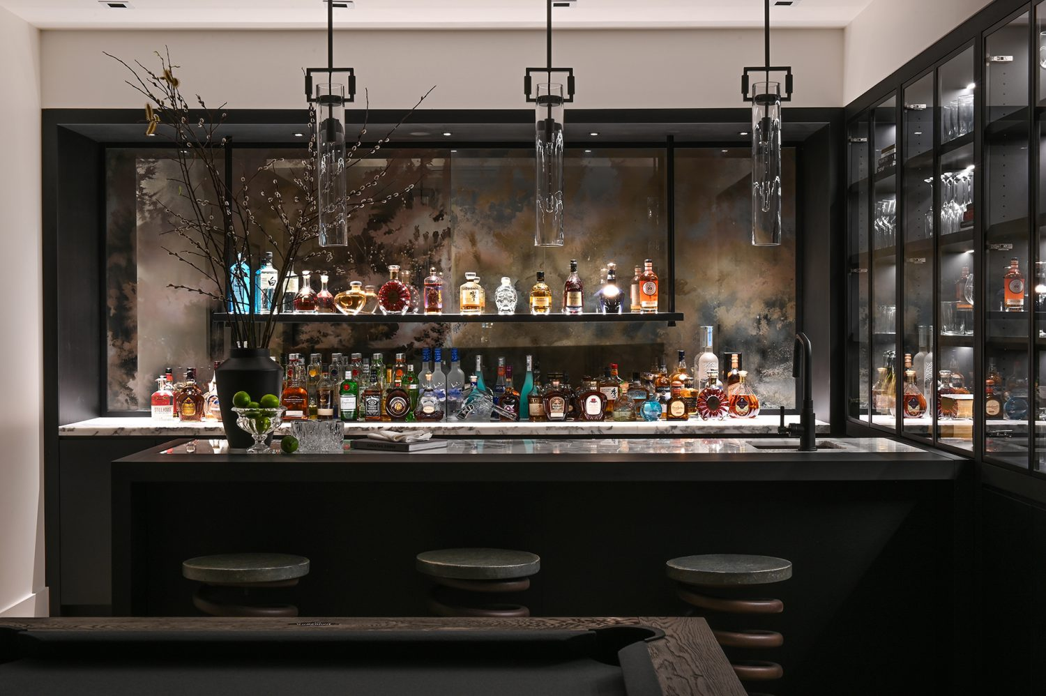 Ferme Moderne luxury bar designed by Midland Premium Properties in Vancouver, BC