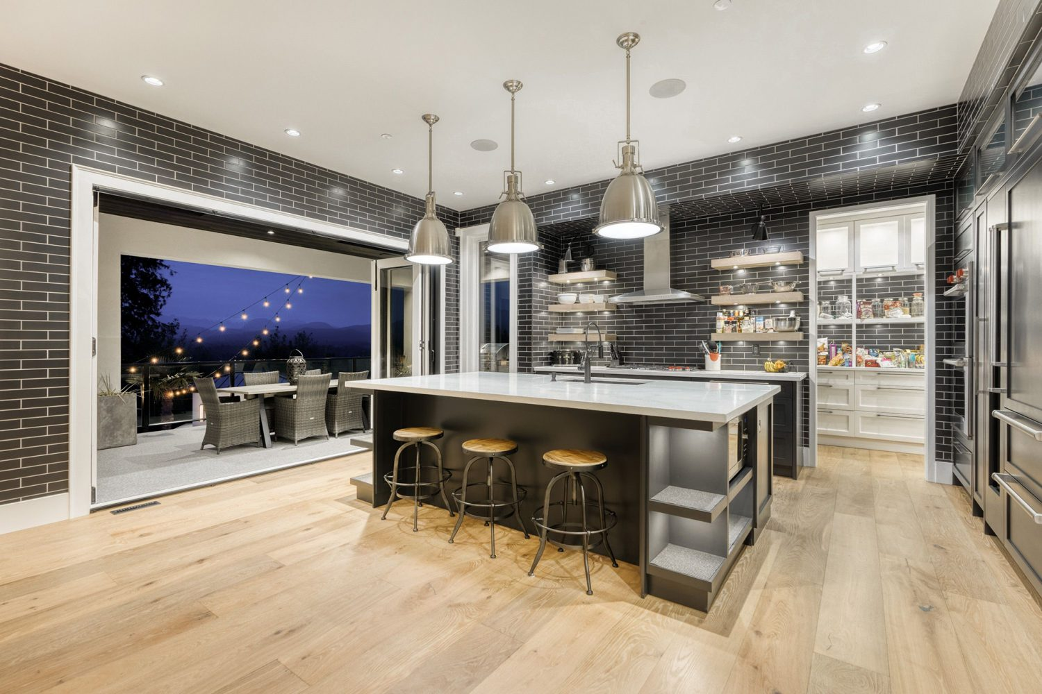 Luxury kitchen and island by Midland Premium Properties in the Greater Vancouver area.