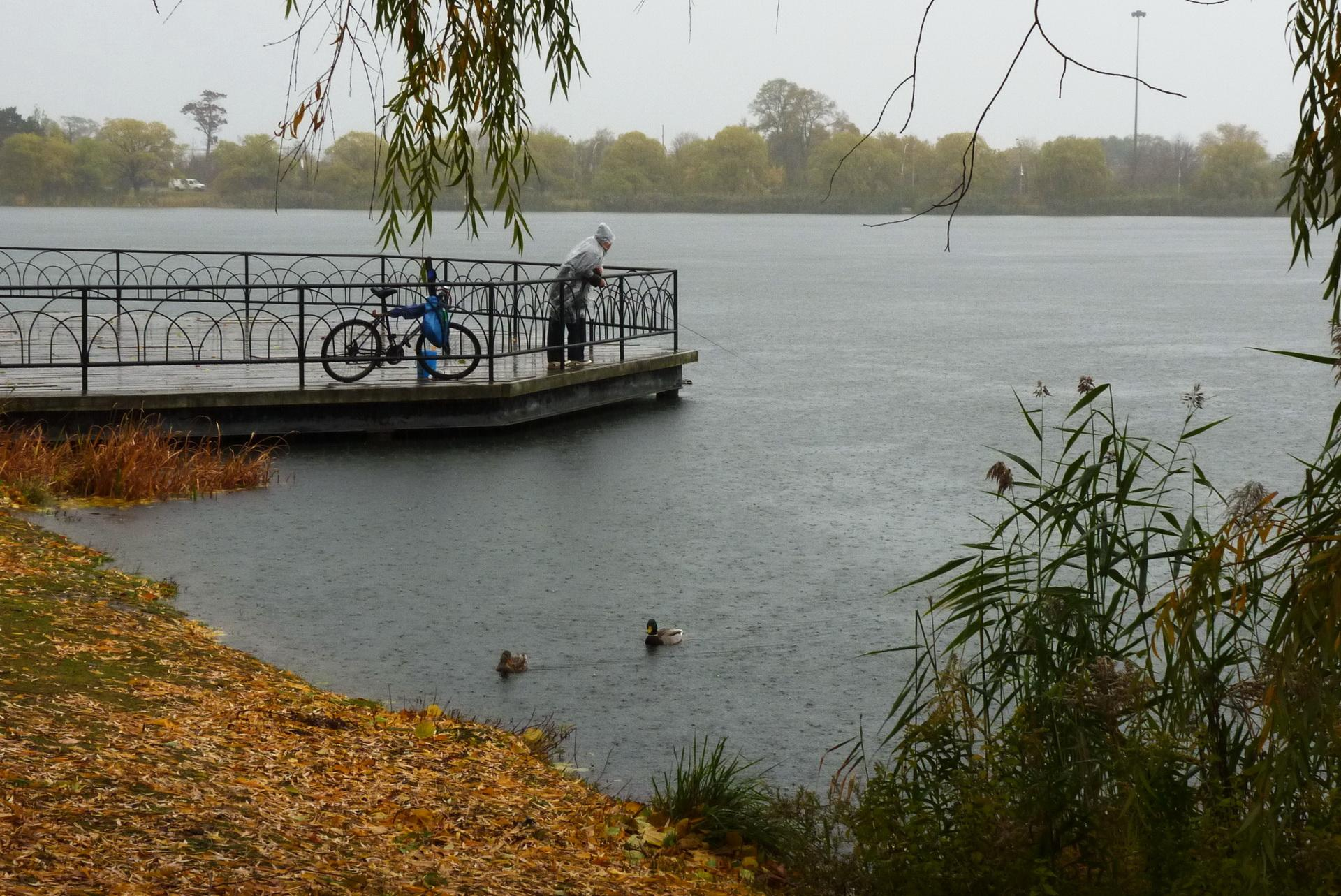 Fishing at Grenadier Pond. Photo: Karen Yukich