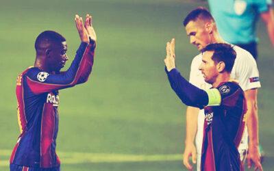 Messi reconstituye al Barça