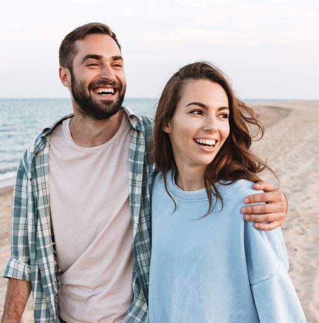 Beautiful young smiling couple spending time after Couples Counseling Bucks County