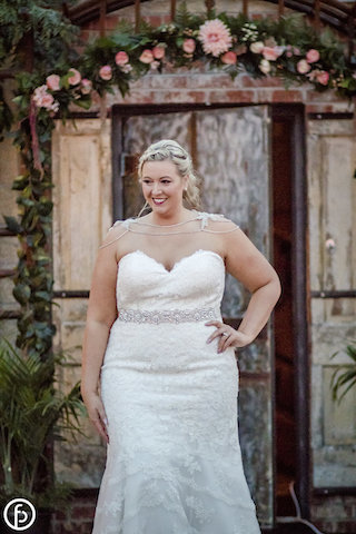 Plus size bride on runway