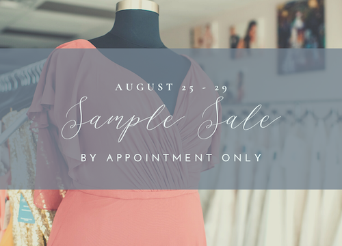 All My Heart Bridal Sample Sale