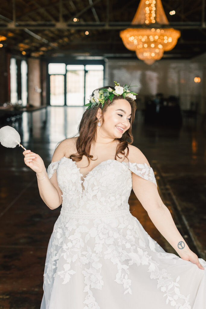 Bride with cotton candy