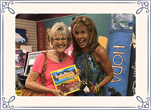 ilona holland with hoda holding buddy bison book