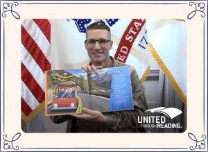Sergeant Major Daniel Dailey Reads Buddy Bison's Yellowstone Adventure by Ilona E. Holland