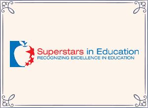 Superstars in Education Award logo