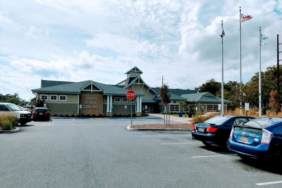 exterior of Lewes Public Library