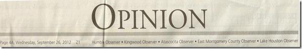 Kingwood Observer (Opinion)