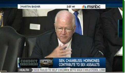 Senator Saxby Chambliss Sexual Assault Youth Hormone