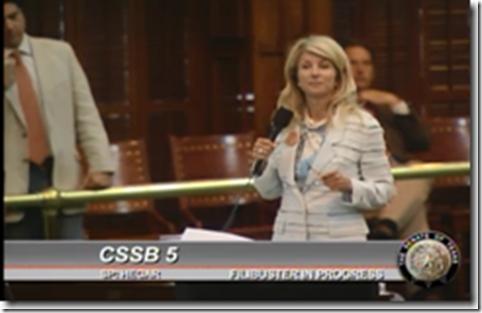 Wendy Davis Filibuster Abortion Bill SB 5 Senate Bill 5
