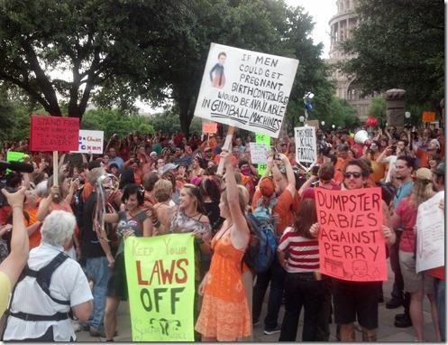 Pro-choice Rally Against Anti-choice protestors at Texas Capitol