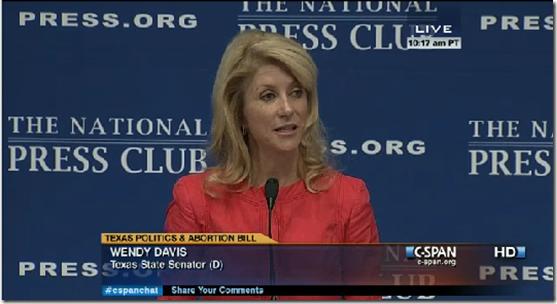 Wendy Davis At The National Press Club