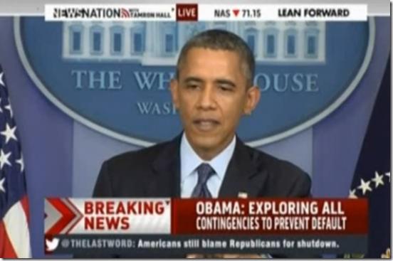President Obama on GOP Hostage Taking