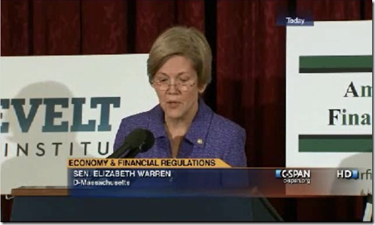 Elizabeth Warren 21st Century Glass Steagall